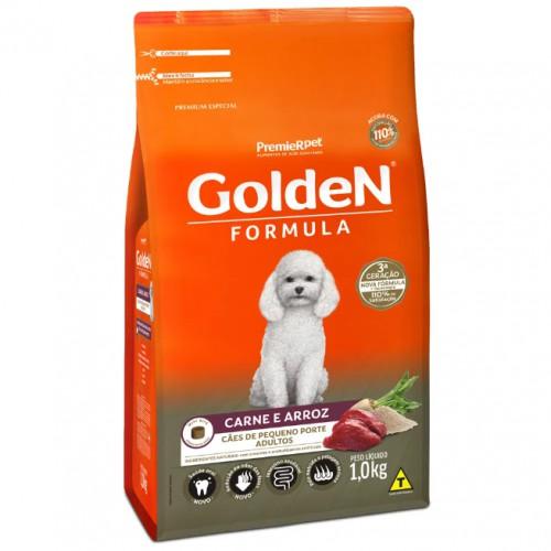 Ração para Cães Adultos Raças Pequenas Golden Fórmula Carne e Arroz  1KG