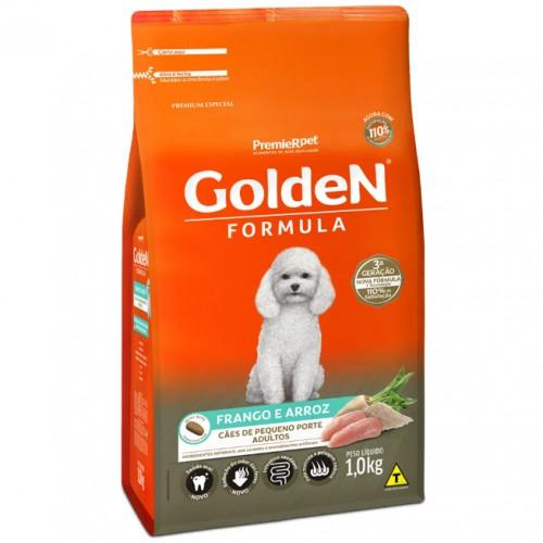 Ração para Cães Adultos Raças Pequenas Golden Fórmula Frango e Arroz 1kg