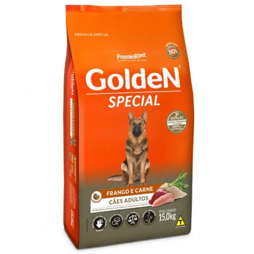 Ração para Cães Adultos Golden Fórmula Special Frango e Carne 15kg